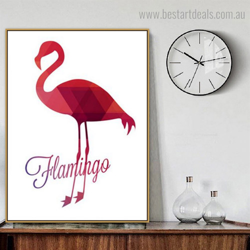 Fabulous Flamingo Abstract Bird Nordic Framed Artwork Picture Canvas Print for Room Wall Assortment