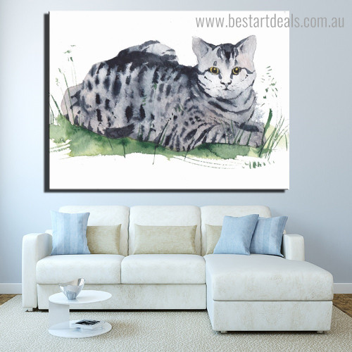 Egyptian Mau Animal Framed Painting Photo Canvas Print for Room Wall Assortment