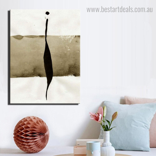 Black Ink Abstract Framed Artwork Pic Canvas Print for Room Wall Outfit