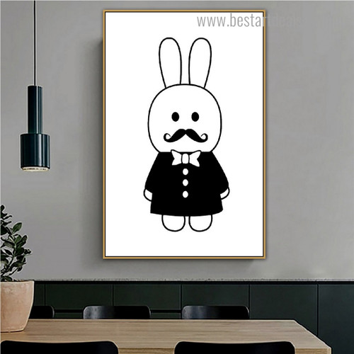 Mr. Agent Anime Animals Nordic Framed Painting Picture Canvas Print for Room Wall Decoration