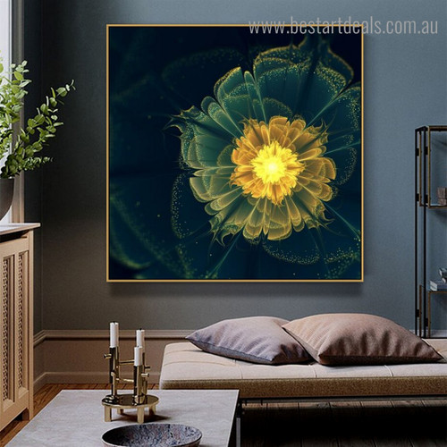 Blinding Floret Abstract Floral Modern Framed Scheme Image Canvas Print for Room Wall Decor