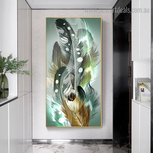 Lovely Feathers Abstract Modern Framed Painting Picture Canvas Print for Room Wall Outfit