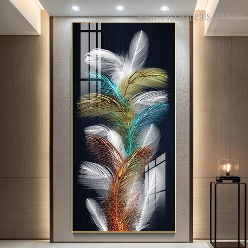 Colorific Wings Abstract Modern Framed Painting Pic Canvas Print for Room Wall Ornament