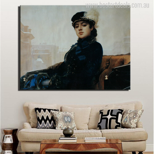 The Unknown Woman Painting Print
