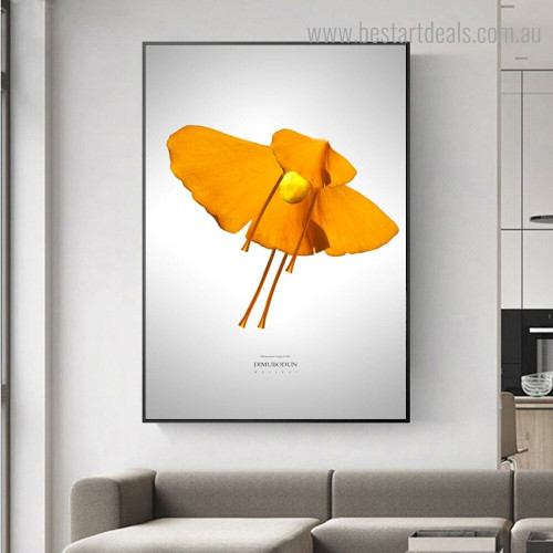 Dancer Ginkgo Leaves Abstract Botanical Nordic Framed Artwork Image Canvas Print for Room Wall Outfit