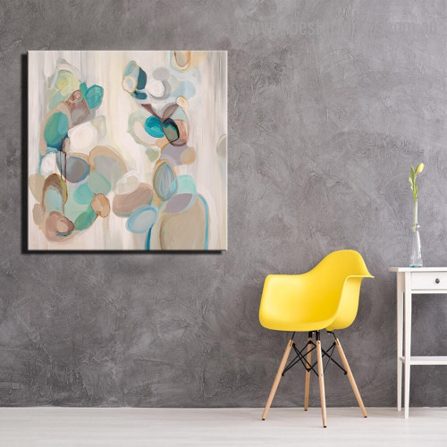 Colorful Smears Abstract Modern Framed Smudge Image Canvas Print for Room Wall Finery
