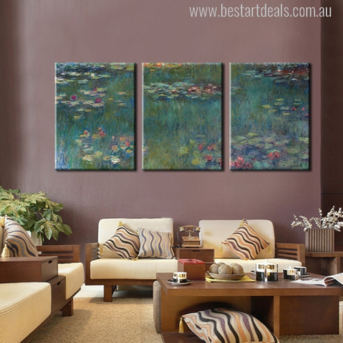 Waterlily Painting Print for Wall Decor