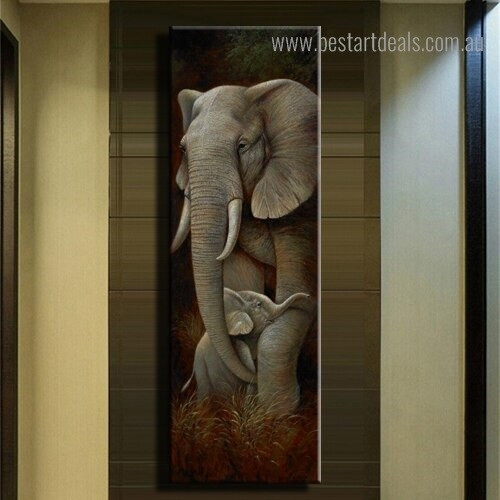 Elephant Calf Animal Modern Framed Painting Picture Canvas Print for Room Wall Onlay