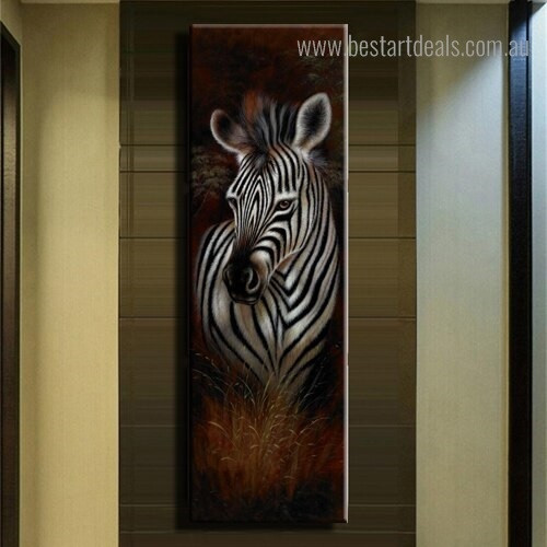 Wonderful Zebra Animal Modern Framed Painting Portrait Canvas Print for Room Wall Ornament