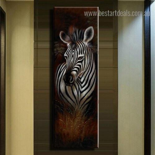 Wonderful Zebra Animal Modern Framed Painting Portrait Canvas Print for Room Wall Ornament