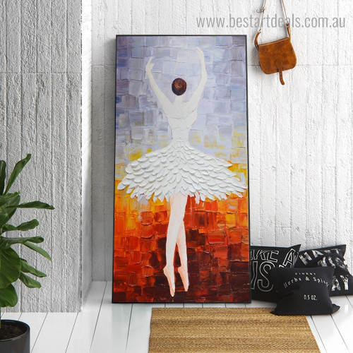 Dancing Lady Abstract Modern Framed Artwork Image Canvas Print for Room Wall Ornament