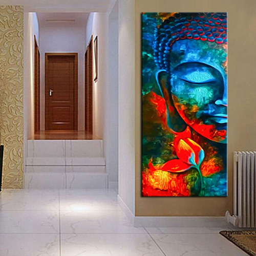 Lord Gautama Buddha Buddhism Religious and Spirituality Painting Canvas Print