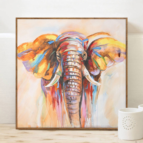 Colorful Elephant Print