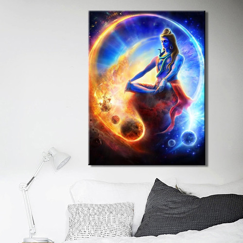 Lord Shiva Painting Canvas Print