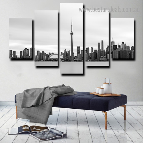 Toronto View City Nature Framed Painting Photo Canvas Print for Room Wall Assortment