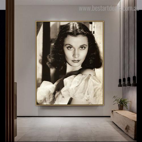 Vivien Leigh Figure Hollywood Vintage Framed Effigy Image Canvas Print for Room Wall Assortment