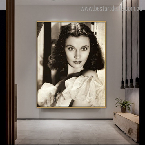 Vivien Leigh Figure Hollywood Vintage Framed Effigy Image Canvas Print for Room Wall Assortment