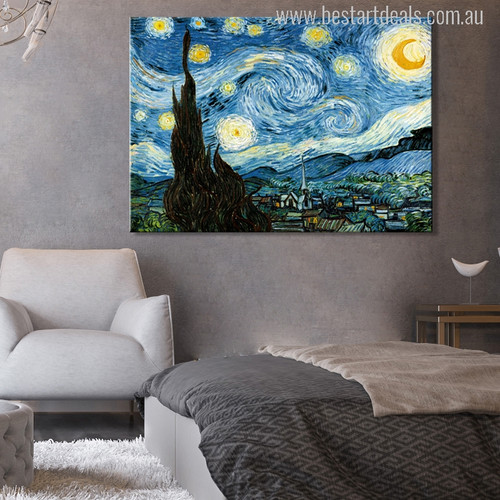 Starry Night Painting Canvas Print