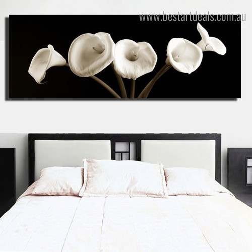 Arum Lily Floral Modern Framed Artwork Photo Canvas Print for Room Wall Moulding