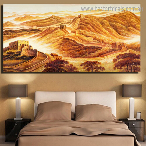 China Great Wall Landscape Nature Framed Painting Photo Canvas Print for Room Wall Assortment