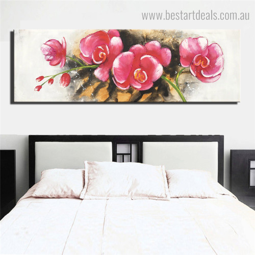 Japanese Camellia Abstract Floral Framed Artwork Image Canvas Print for Room Wall Onlay