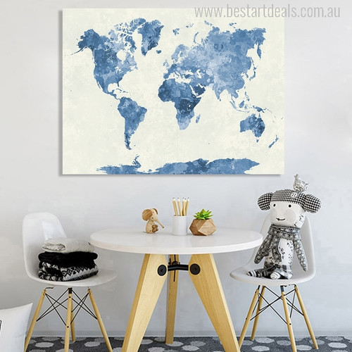 Map Painting Print