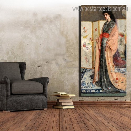 The Princess Figure Reproduction Vintage Framed Painting Portrait Canvas Print for Room Wall Drape