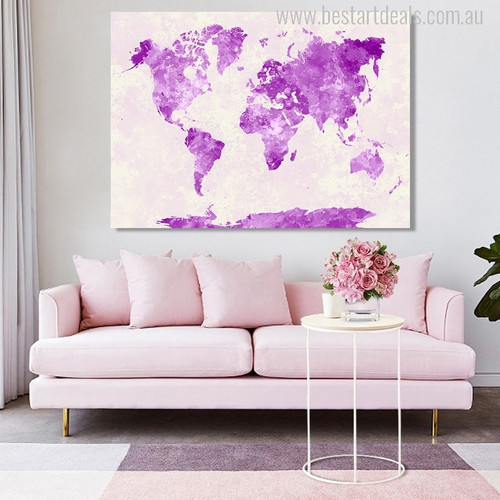 Map Design Painting Print