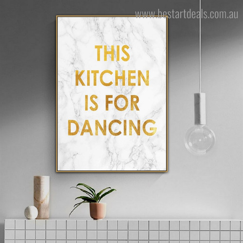 Kitchen Abstract Quote Modern Framed Painting Picture Canvas Print for Room Wall Adornment