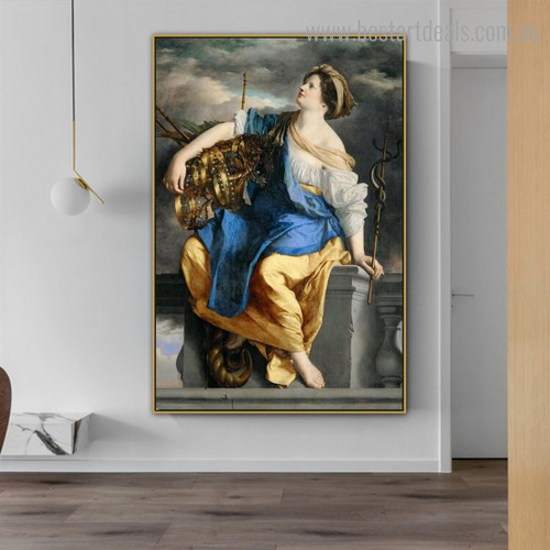 Public Felicity Reproduction Figure Framed Artwork Image Canvas Print for Room Wall Finery