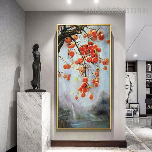 Currant Nature Framed Painting Image Canvas Print for Room Wall Decoration
