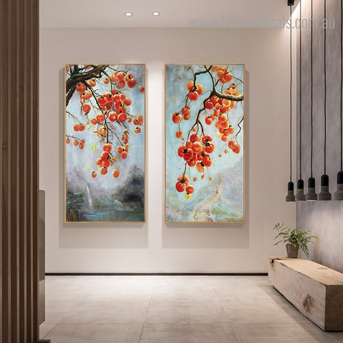 Currants Fruit Nature Framed Painting Photo Canvas Print for Room Wall Ornament