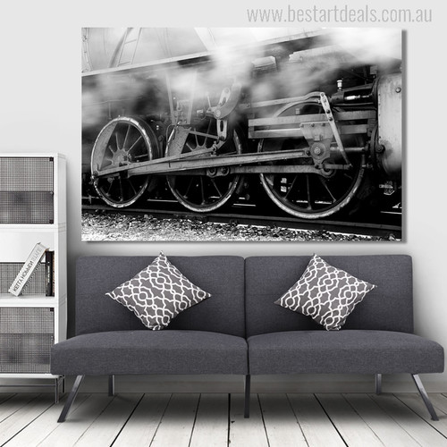 Locomotive Engine Picture Print for Wall Decor