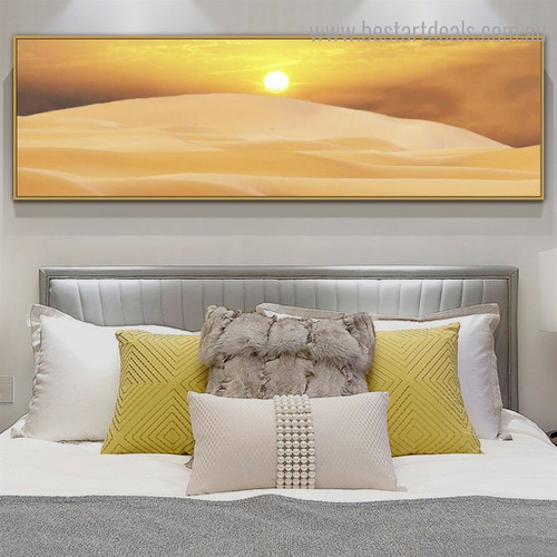 Desert Landscape Nature Framed Painting Pic Canvas Print for Room Wall Decoration