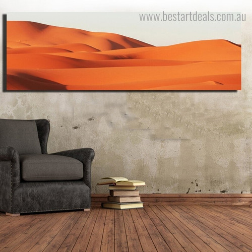 Sands Landscape Nature Framed Painting Portrait Canvas Print for Room Wall Tracery