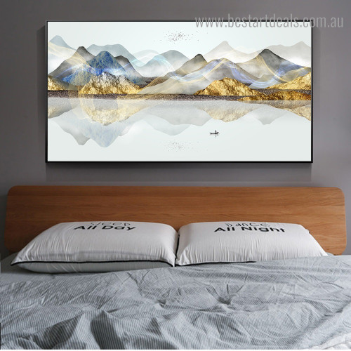 Colorful Mountains Landscape Nature Framed Artwork Photo Canvas Print for Room Wall Outfit