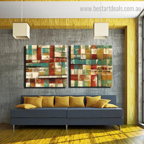 Colorful Boxes Abstract Modern Framed Painting Pic Canvas Print for Room Wall Assortment