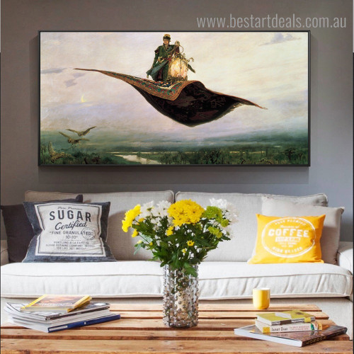 Flying Carpets Reproduction Framed Painting Photo Canvas Print for Room Wall Equipment