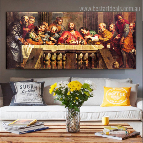 Holy Thursday Reproduction Framed Painting Picture Canvas Print for Room Wall Getup