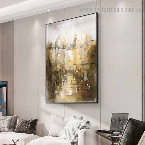 Multicolored Abstract Modern Framed Artwork Image Canvas Print for Room Wall Garniture