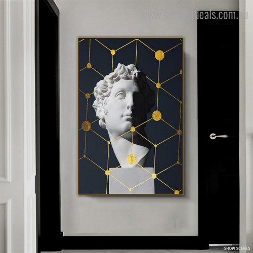 David Idol Abstract Nordic Framed Artwork Photo Canvas Print for Room Wall Outfit