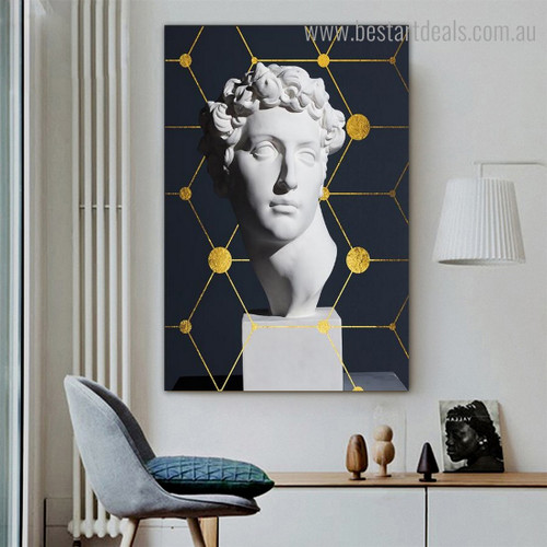 David Face Abstract Nordic Framed Artwork Pic Canvas Print for Room Wall Disposition