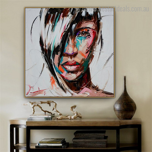 Calico Maw Abstract Modern Framed Artwork Picture Canvas Print for Room Wall Decoration