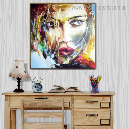 Particoloured Mask Abstract Modern Framed Artwork Photo Canvas Print for Room Wall Outfit