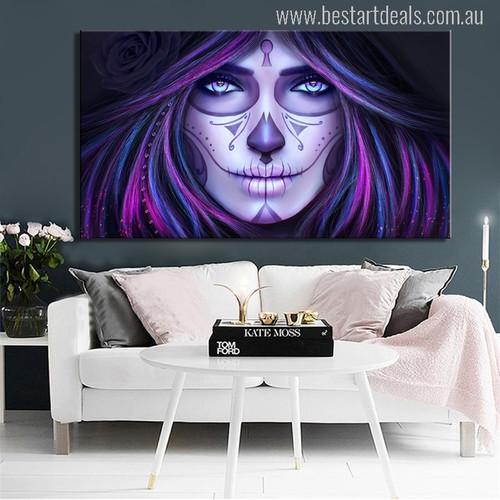 Women Skull Painting Print