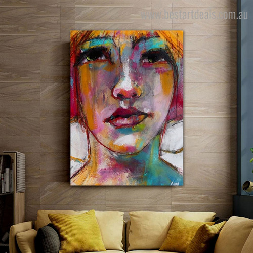 Motley Maw Abstract Modern Framed Artwork Photo Canvas Print for Room Wall Getup