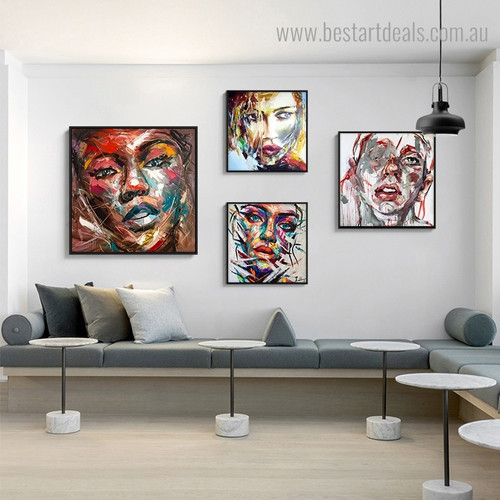 Ladies Cakehole Abstract Modern Framed Artwork Picture Canvas Print for Room Wall Finery