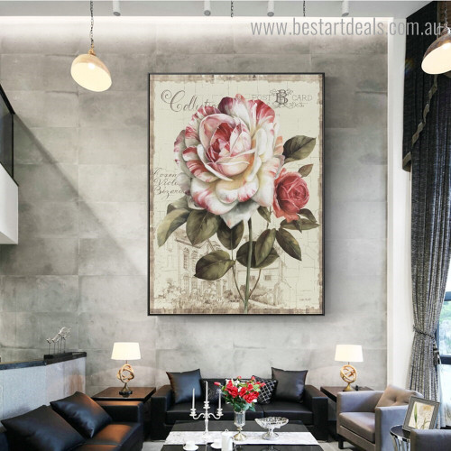 Garden View III Floral Reproduction Framed Painting Photograph Canvas Print for Room Wall Adornment