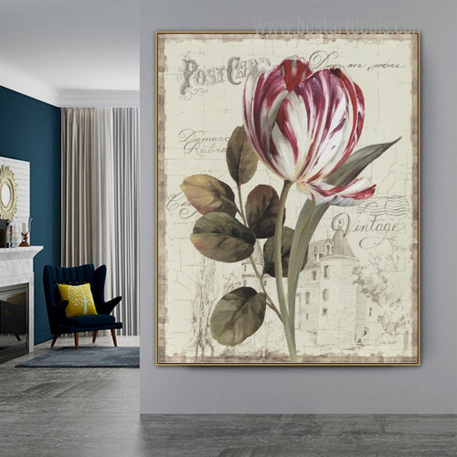 Garden View II Nature Reproduction Framed Painting Photo Canvas Print for Room Wall Adornment