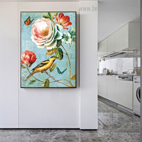 Spring Romance II Nature Reproduction Framed Painting Pic Canvas Print for Room Wall Onlay